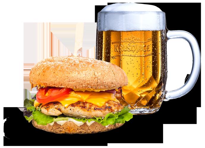 burger pivo